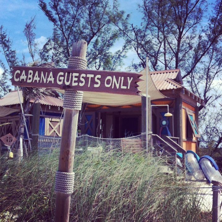 We had a private cabana on Castaway Cay.
